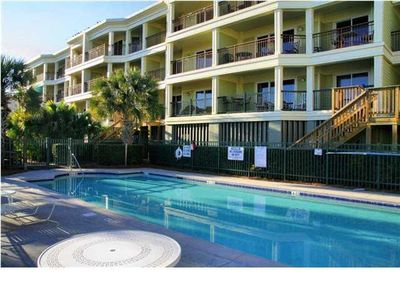 Private pool and Outdoor Grill Area with stair or elevator access to condo.