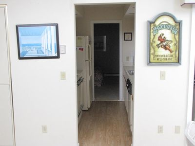 Brewster condo rental - Galley kitchen opens to the family living area and the third bedroom.