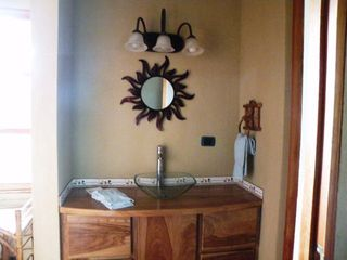 San Ramon villa photo - Downstairs bathroom's elegant glass bowl sink in separate washing up area.