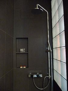 LB2: walk-in shower with rain shower