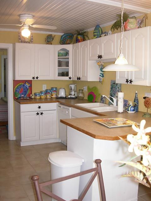 Well equipped kitchen has everything you will need.