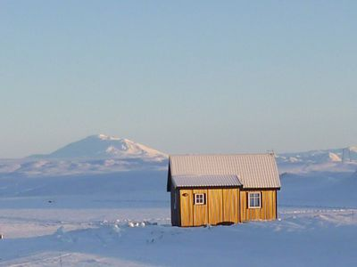 Winterwonderland and volcano Hekla