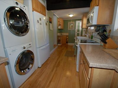Well equipped kitchen with updated appliances