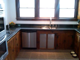Rhinebeck property rental photo - New stainles / granite kitchen with double oven, cooktop and dishwasher.