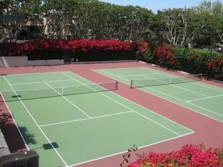 Solana Beach condo photo - Tennis courts surrounded by flowers