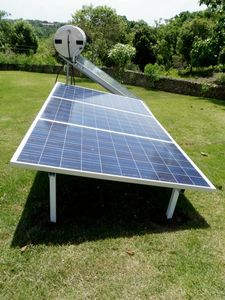 Sosua villa rental - Solar Panel for Pool Pump