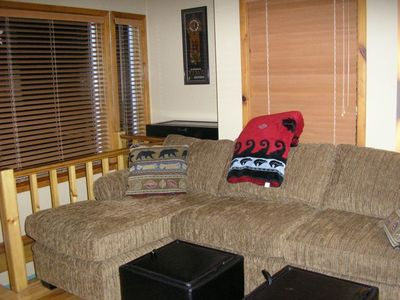 Double sleeper sofa with lounge