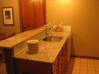 Newly installed Granite in the Kitchen and Studio - Snowshoe Mountain condo vacation rental photo