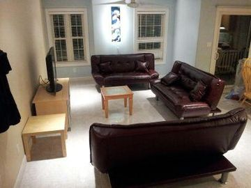 Wildwood condo rental - living room with 3 fold down couches Clean!!!! open space