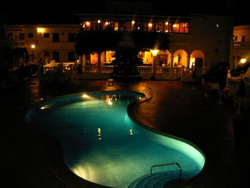 Heated pool outside Royal Palm Bar and Restaurant