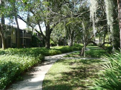 Four acres of lushly landscaped gardens.