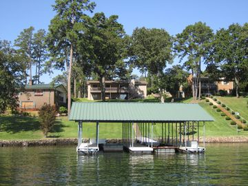 View of our dock from the lake.
