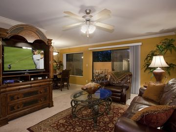 Old Town Scottsdale condo rental - Living Room with Plasma Screen TV, Recliner, and Sofa Bed