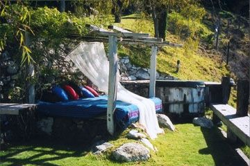 Outdoor Bed & Hot Tub