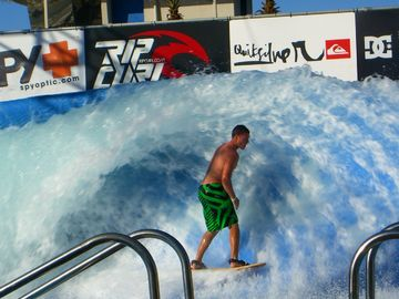 Walk or ride the bikes to the Wavehouse! Try it! It's a blast!