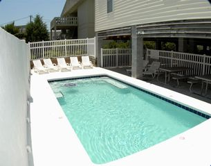 Cherry Grove Beach house photo - Heated Pool with Hydro Jets!