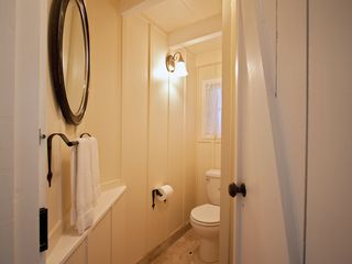 Carmel cottage photo - Downstairs powder room.