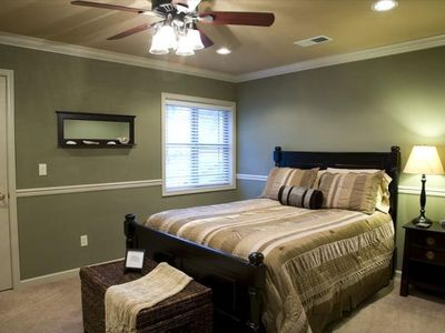 Third bedroom with queen bed and walk-in closet
