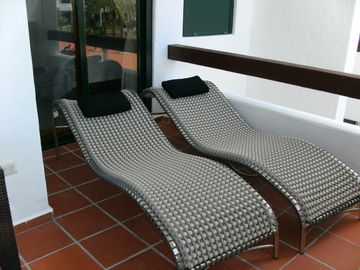 Terrace with Swedish Lounge Chairs