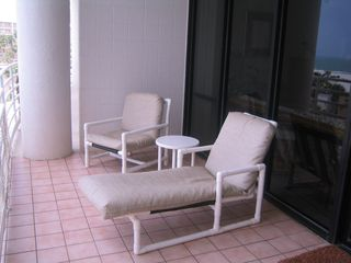 South Padre Island condo photo - Lounge on the deck and watch the waves roll in...or take a nap!