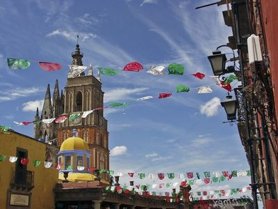 San Miguel is always ready for a fiesta!