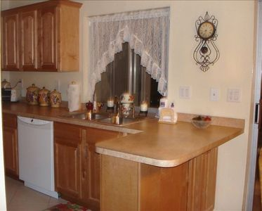 Nice open kitchen with pass thru to lanai.