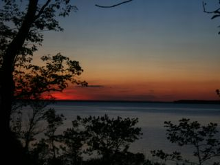 Deltaville cottage photo - Rappahannock River Sunset - West view from the Cottage