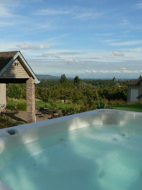 relax and enjoy the views , our hot tub is a great place to be after a long day