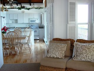 New hardwood flooring in 2nd flr. kitchen/dining area. Beautiful! - Brant Beach house vacation rental photo
