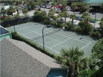 Folly Beach villa rental - Private Clay tennis court
