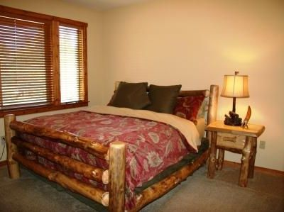 Master bedroom with CA king bed