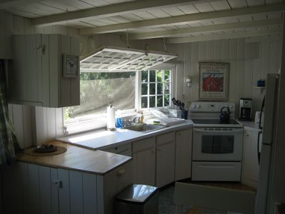 Owls Head cottage rental - Kitchen Facing The Ocean
