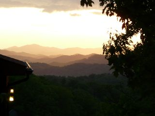 Gatlinburg cabin photo - The Sunset from the Left Side of the Deck- Breath Taking