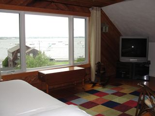 Jamestown (Conanicut Island) house photo - #1 Large TV/bedroom with queen bed, 3rd floor