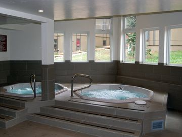 Two of the four hot tubs to enjoy :)