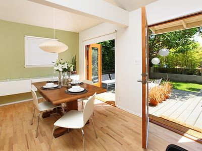 Dining room opens onto front yard