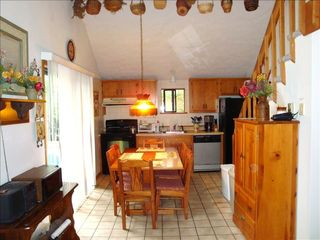 Kitchen w/ dishwasher, microwave, coffee maker - Towamensing Trails chalet vacation rental photo