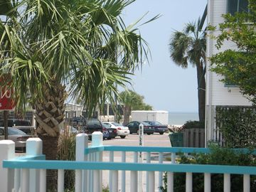 View beach from front porch, access to the ocean (crosswalk provided)