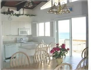 Brant Beach house photo - Eat & enjoy while you watch the dolphins swim by.