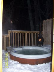 Crystal Mountain, Thompsonville cottage photo - Relax in the Hot Tub after a busy day on ski slopes