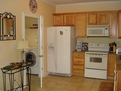 Gourmet Kitchen + Full Size Laundry Room
