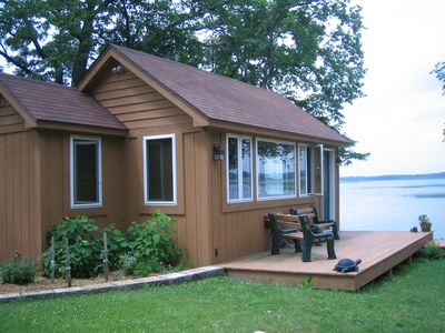 view of the studio cabin that face the lake as well.