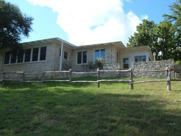 Hunt lodge rental - The Ponderosa has Guadalupe River views from multiple rooms and porches!