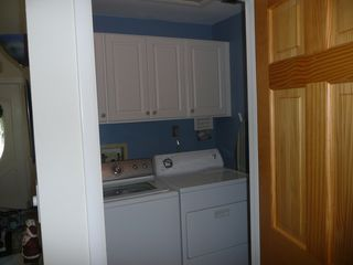 Sanibel Island house photo - The Laundry Room has update large capacity washer and dryer and storage!
