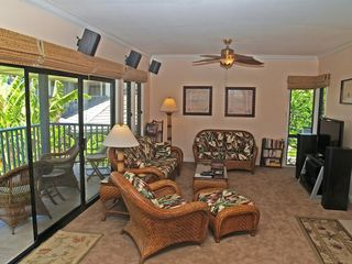 Poipu condo photo - Wonderful living room open to the outside