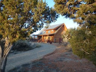Custom Log Cabin is the only building on the 8o private acres! - Mesa Verde cabin vacation rental photo