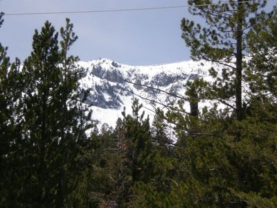 View of Bridger Mountain Range from Deck