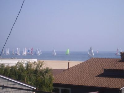 Watch sailboats on the ocean right from the rooftop patio!