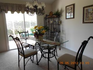 The Villages house photo - .Dining area. Six chairs availble.