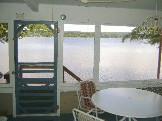 Lake Salem cottage photo - Screened in Porch right on the lake.